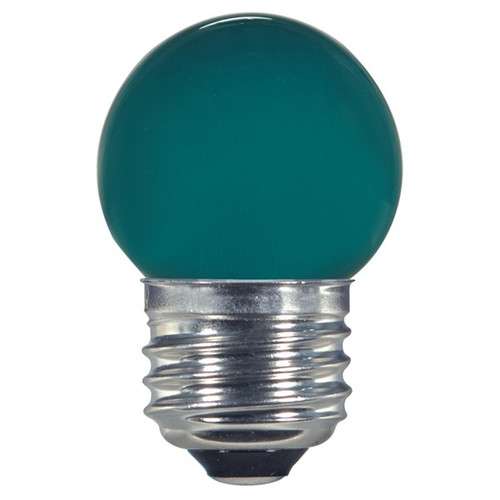 1.2 WATT S11 LED LAMP GREEN 27K (EQUAL TO 10W) - SATCO #S9163