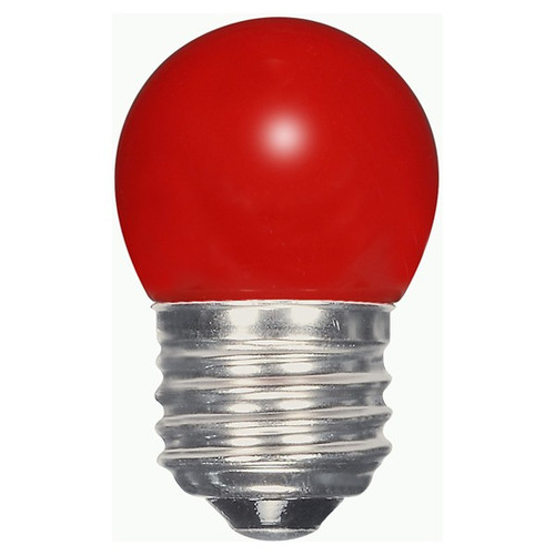 1.2 WATT S11 LED LAMP RED 27K (EQUAL TO 10W) - SATCO #S9165