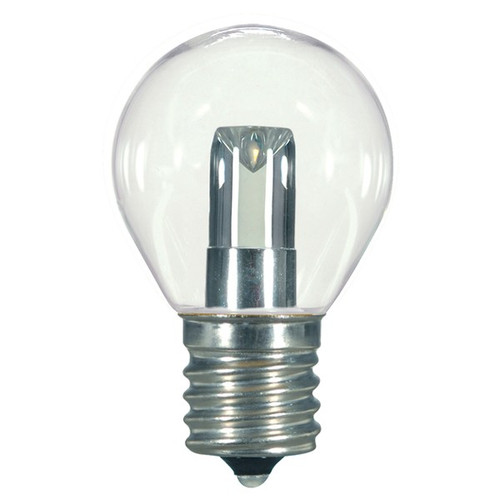1.2 WATT S11 LED LAMP CLEAR 27K INTERMEDIATE BASE (EQUAL TO 10W) - SATCO #S9167