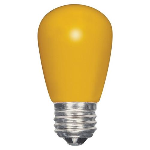 1.4 WATT S14 LED LAMP YELLOW 27K (EQUAL TO 11W) - SATCO #S9169