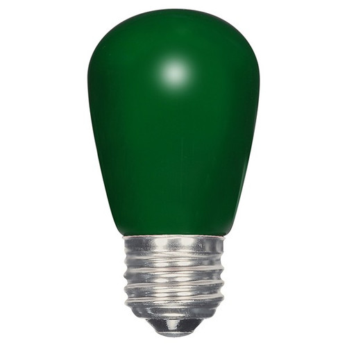 1.4 WATT S14 LED LAMP GREEN 27K (EQUAL TO 11W) - SATCO #S9171
