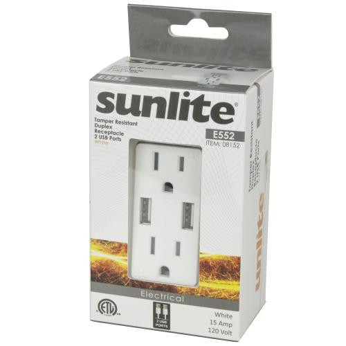 Duplex Receptacle with 2 USB Ports - Package View