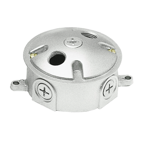 RAB Lighting Round Electrical Box With 3-Hole Cover
