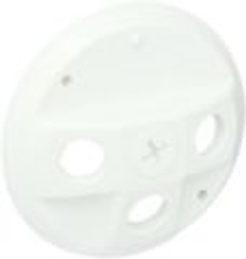 RAB Lighting Round Electrical Box Cover - White