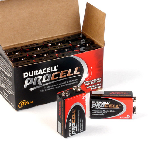 12 PACK - DURACELL PROCELL 9v BATTERY