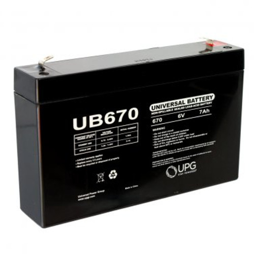 EMERGENCY EXIT BATTERY - 6 VOLT 7.0 AMP