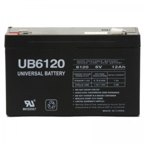 EMERGENCY EXIT BATTERY - 6 VOLT 12 AMP