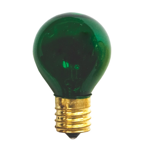 10 Watt S11 Transparent Green