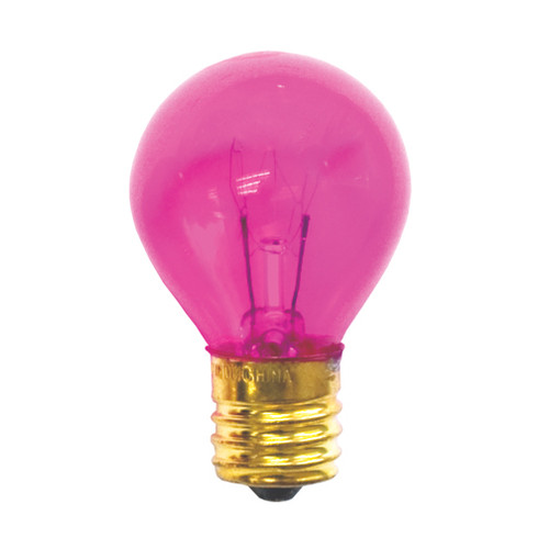 10 Watt S11 Transparent Pink