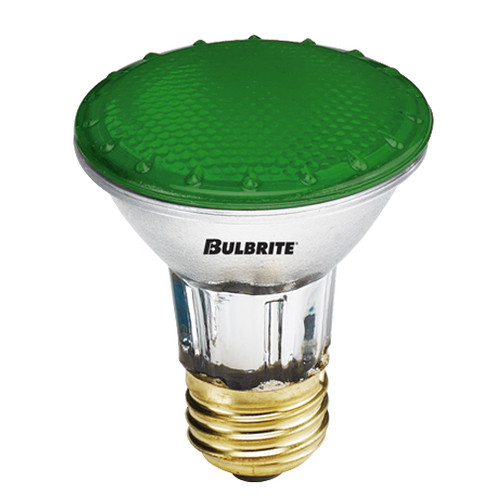 H50PAR20G 50 Watt PAR20 Green Flood 120 Volt Standard Base (E26)