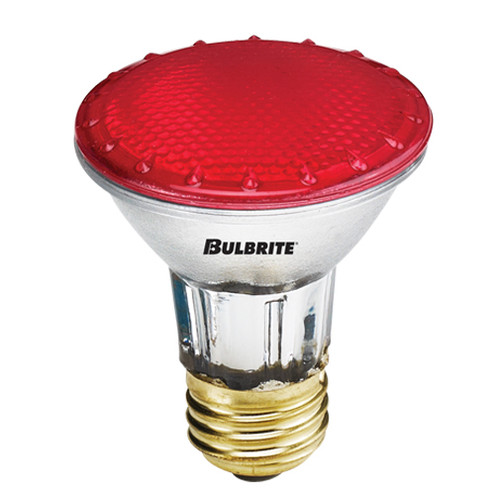 H50PAR20R 50 Watt PAR20 Red Flood 120 Volt Standard Base (E26)