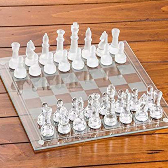 The Best Glass Chess Board Set of 2020 Large size 27X27cm