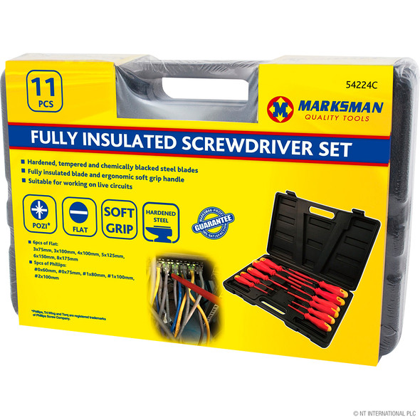 11pc Fully Insulated Screwdriver Set