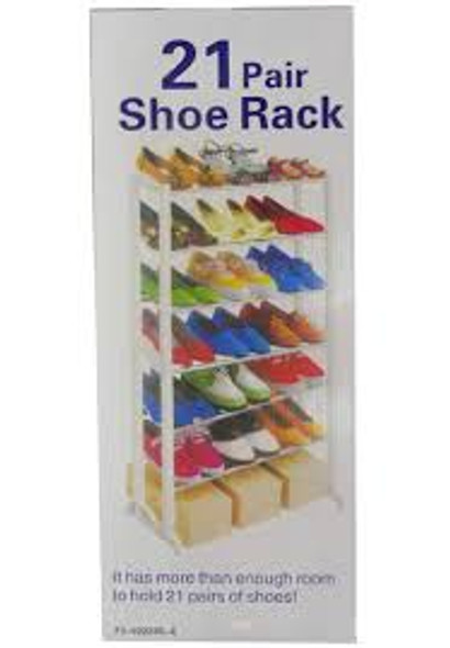 Knight 21 Pairs Shoe Rack 95x54cm