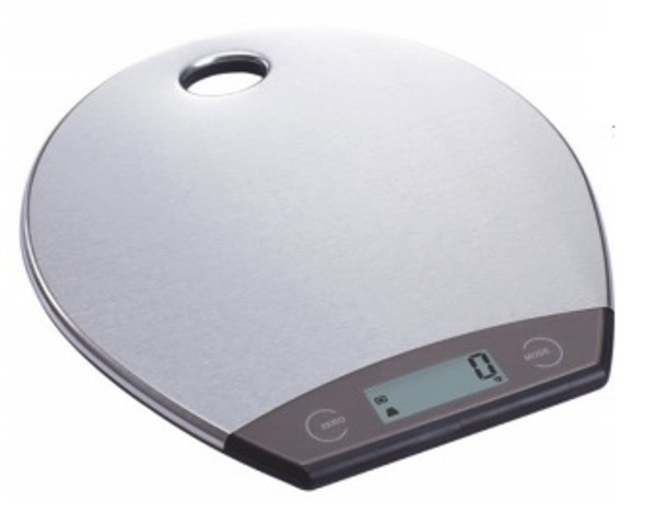 Slim Round Stainless Steel Kitchen Scale