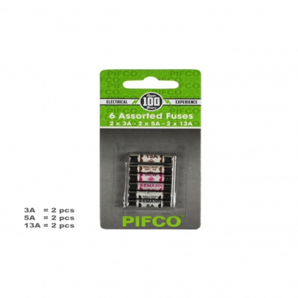 Fuse Pack - Assorted 6 Pack3amp 5amp 13 Amp