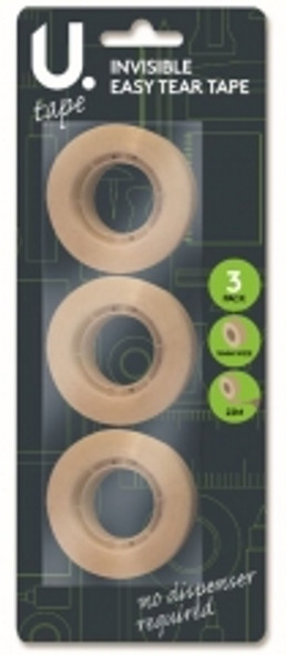 3pk Invisible Easy Tear Tape