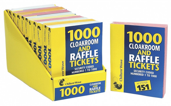 1000 Raffle And Cloakroom Ticket