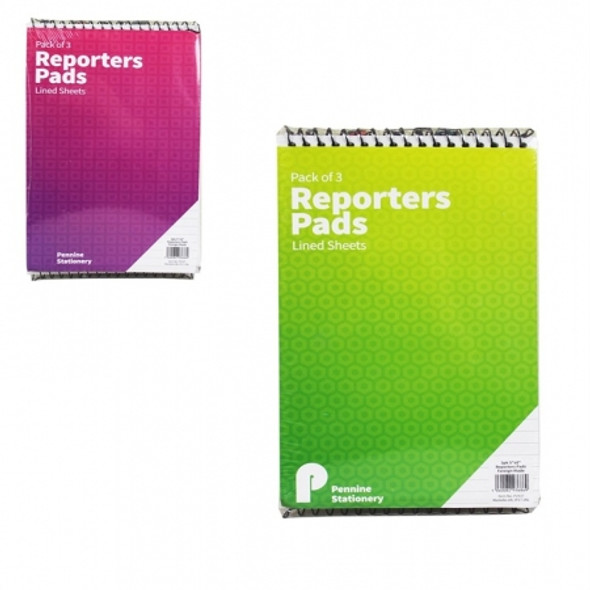 Reporters Note Pad 3pk