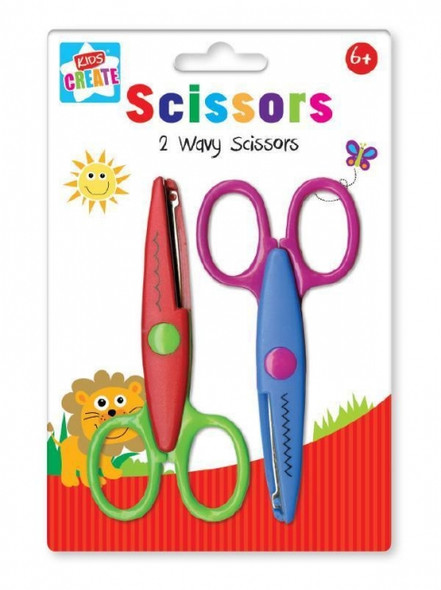 Act, 2 Patterned Edged Scissors