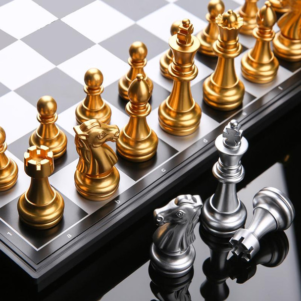 Travel and Outing size 25X 25cm Magnetic Folding UK Strandard Chess Board Game Set  Modern Colours