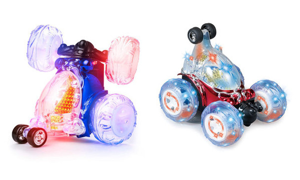 Turbo 360 Twister RC Stunt Car Flashing Light Dasher Vehicle Remote Control Toy 3+