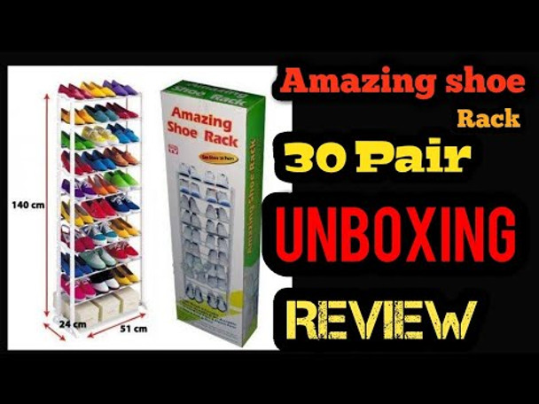 30 Pairs Amazing Strong Metal Shoe Rack Portable and easy to assemble and dis-assemble