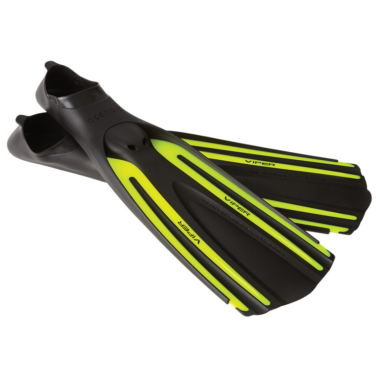 Oceanic Viper Full Foot Fin Black/Neon Yellow