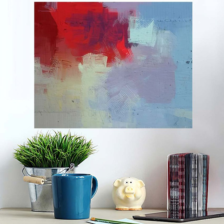 2D Illustration Artistic Background Image Abstract 1 - Abstract Art Wall Art Poster
