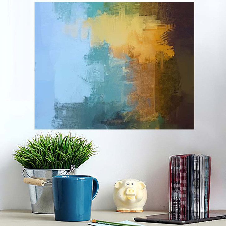 2D Illustration Contemporary Art Hand Made - Abstract Art Wall Art Poster