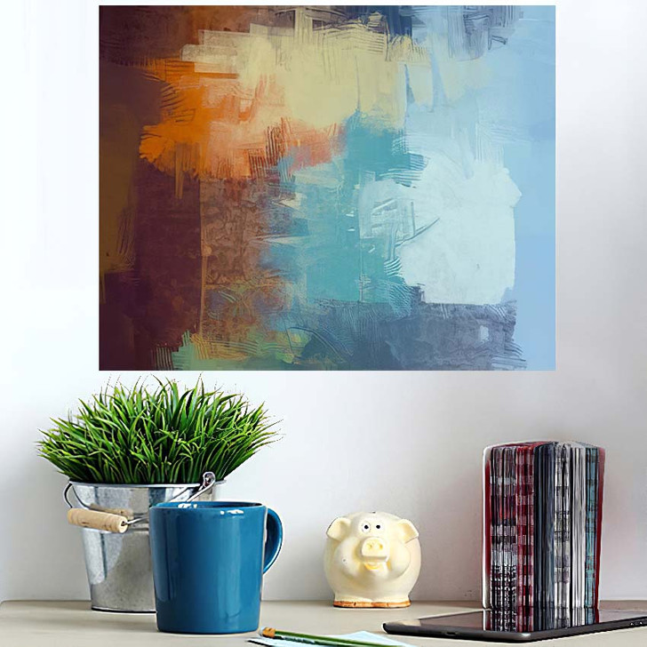 2D Illustration Contemporary Art Hand Made 1 - Abstract Art Wall Art Poster