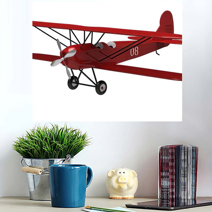 3D Render Model Ancient Plane On - Airplane Airport Wall Art Poster