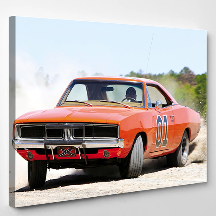 Classic Dodge Charger General Lee - Automotive Canvas Wall Decor
