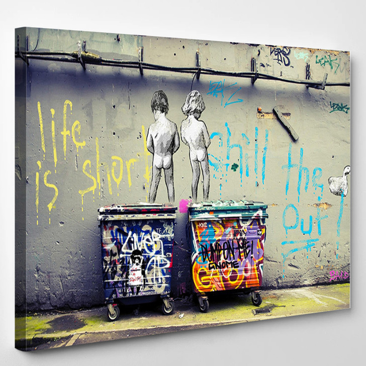 Art Life Is Short Chill The Duck Out - Abstract Canvas Wall Decor