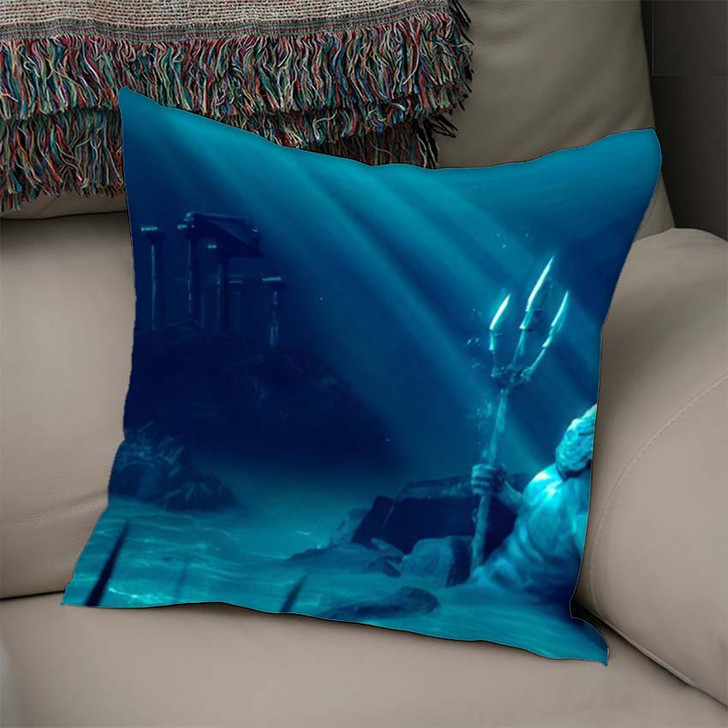 3D Illustration Based On Legend Lost - Fantasy Linen Throw Pillow