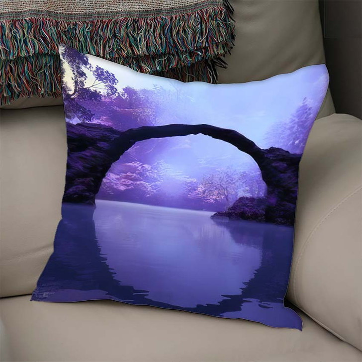 3D Illustration Landscape Where You Can - Fantasy Linen Throw Pillow