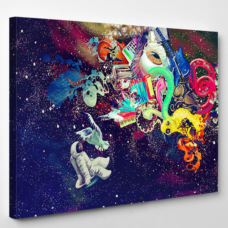 Psychedelic Astronaut - Abstract Canvas Wall Decor