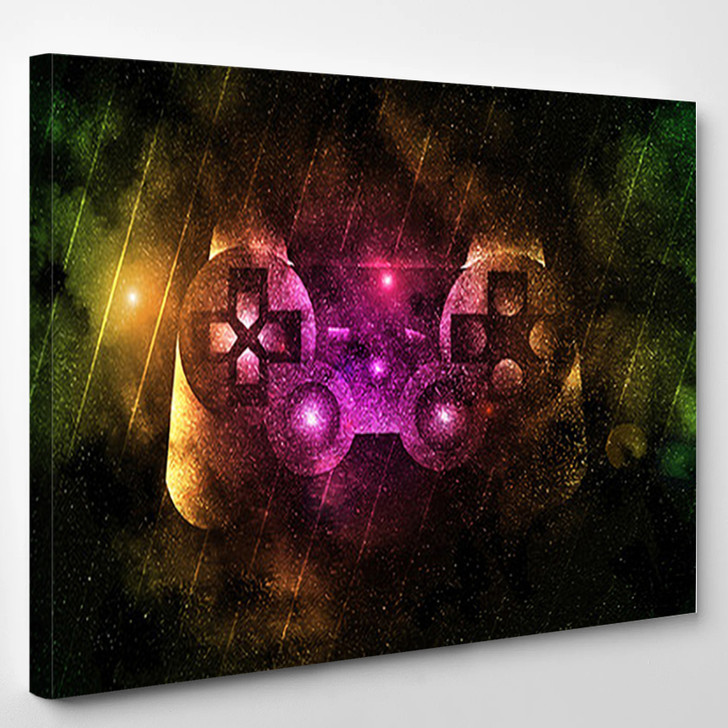 Playstation Controller - Abstract Canvas Wall Decor