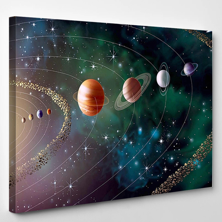 Our Solar System - Space Canvas Wall Decor
