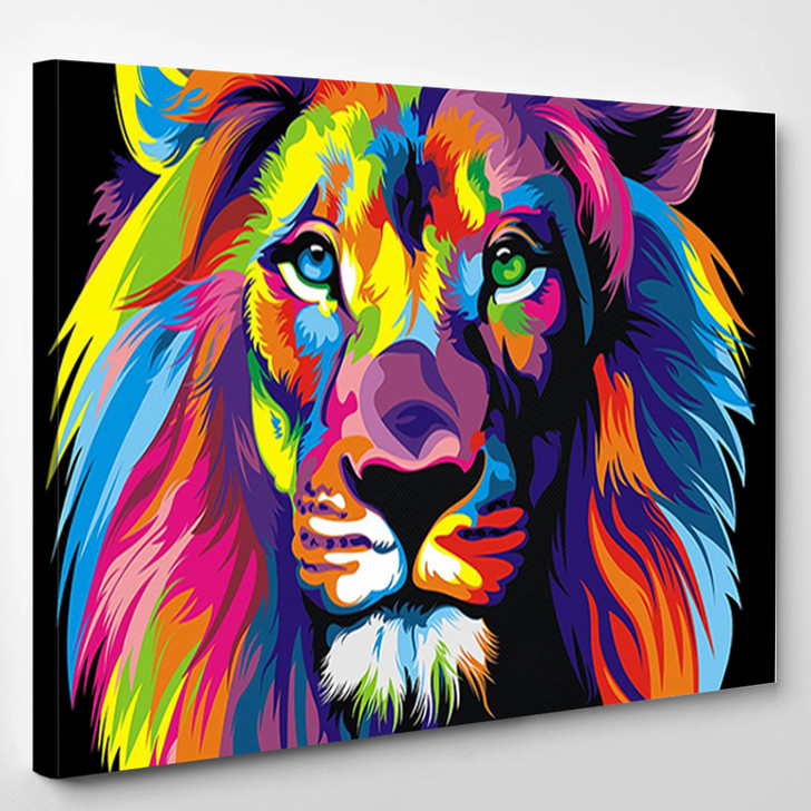 Brilliant Lion - Abstract And Animal Canvas Wall Decor