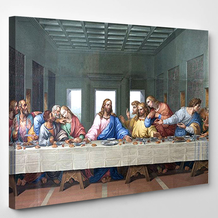Last Supper Vintage 1 - Abstract Canvas Wall Decor