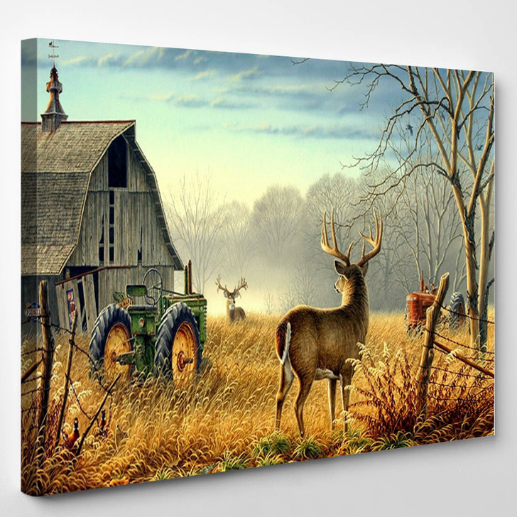 Whitetail Buck And Monster Buck Whitetail Deer - Animal Canvas Wall Decor