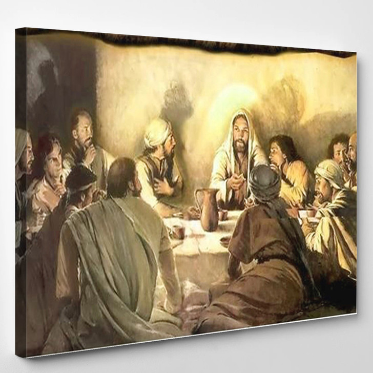 Last Supper 01 - Abstract Canvas Wall Decor
