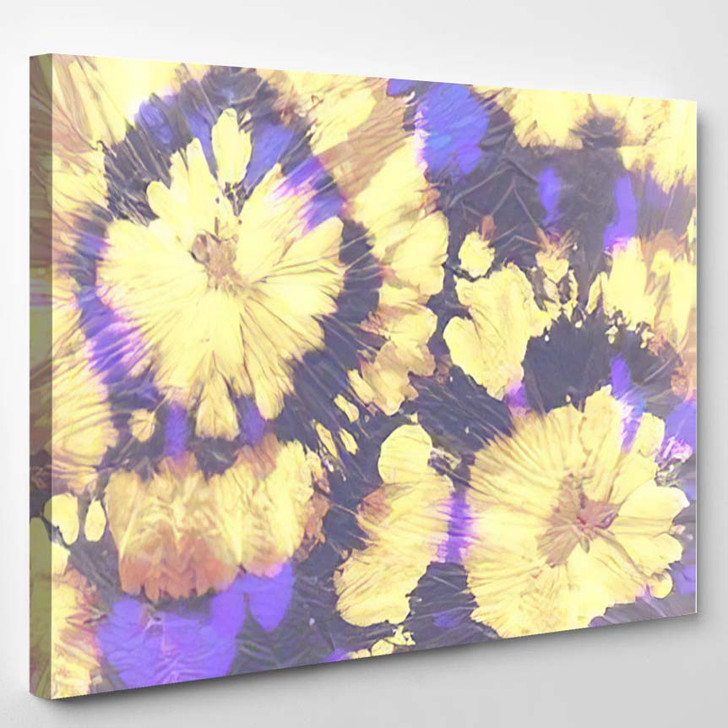 Bright 70S Hippies Fluorescent Psychedelic Effect - Hippies Canvas Wall Decor