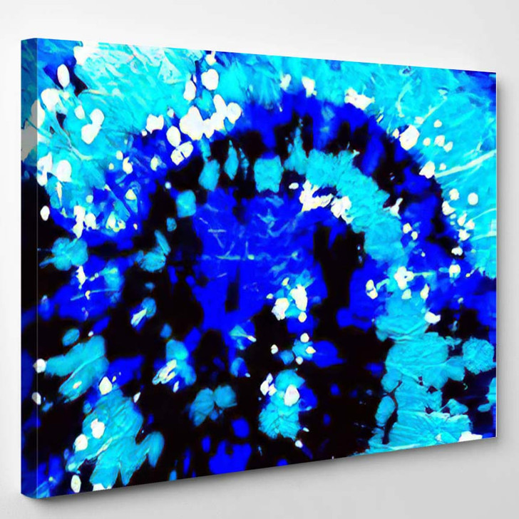 Bright Hippy Pattern Psychedelic Color Fluorescent - Hippies Canvas Wall Decor