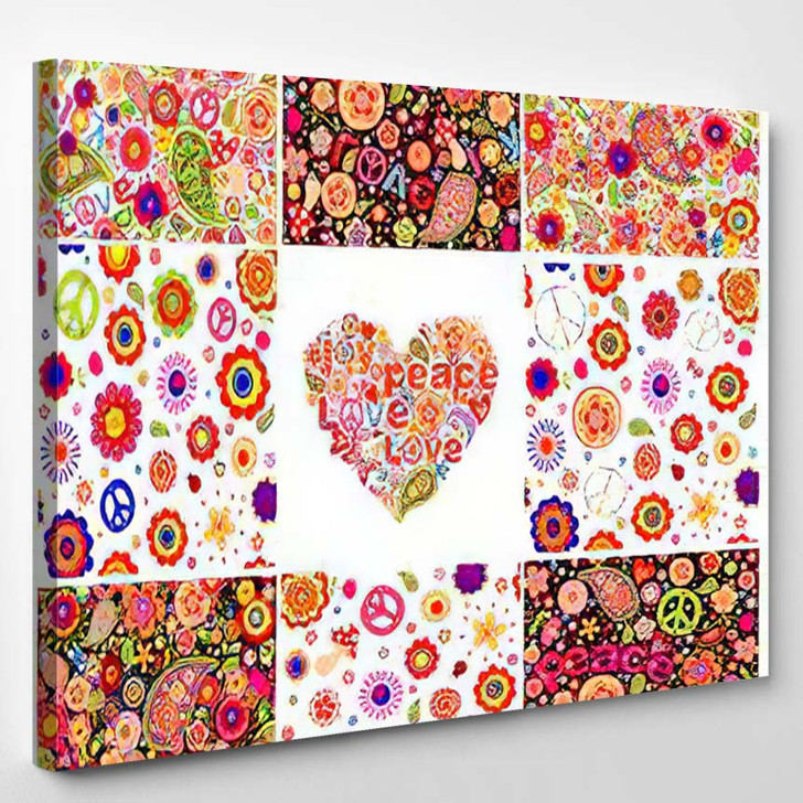 Collection Hippie Wallpapers - Hippies Canvas Wall Decor