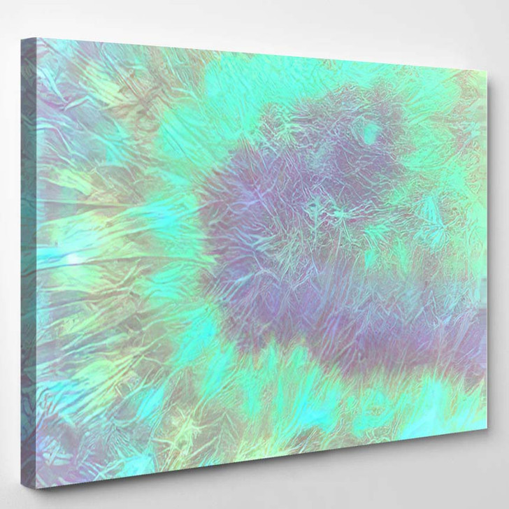 Colorful Hippy Colors Bright Psychedelic Texture - Hippies Canvas Wall Decor