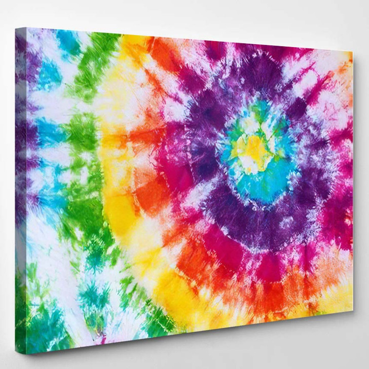 Colorful Tie Dye Pattern Abstract Background 1 1 - Hippies Canvas Wall Decor