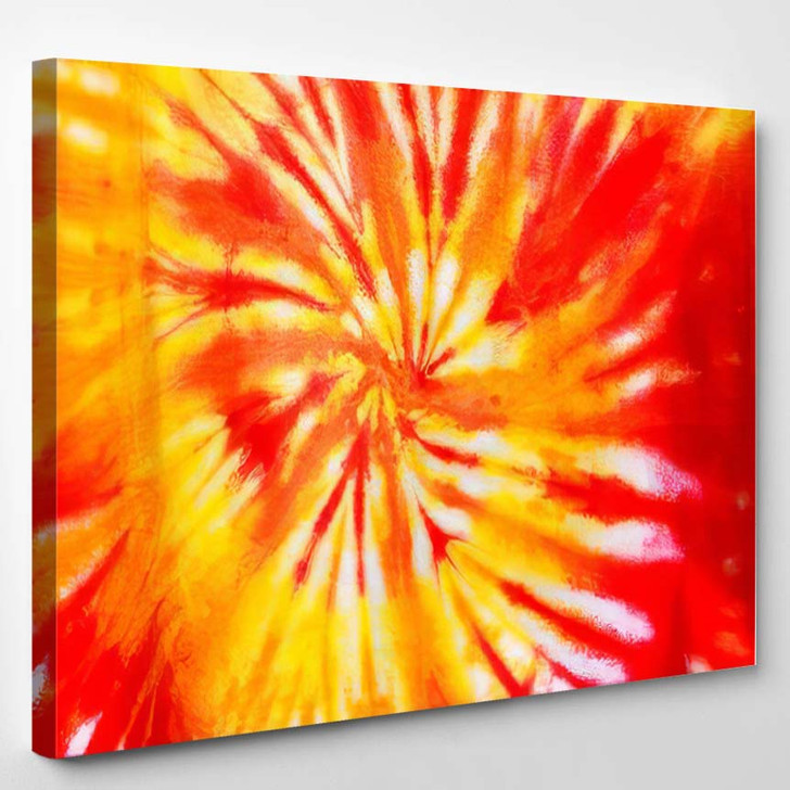 Colourful Tie Dyed Patter Abstract Background - Hippies Canvas Wall Decor