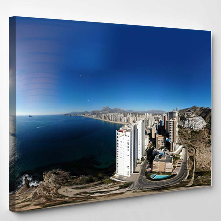 360 Degree Panoramic Sphere Aerial Photo - Canvas Wall Decor